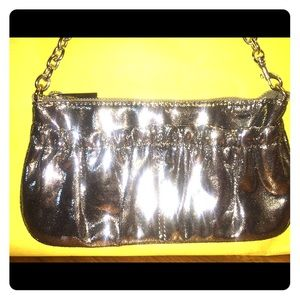 Express Glossy Silver Evening Bag